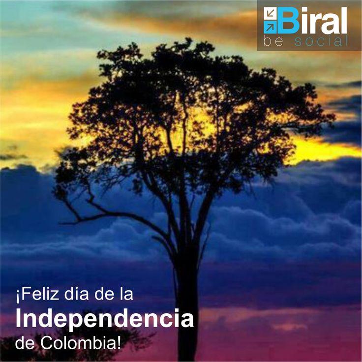 ¡Feliz día de la independencia de Colombia! #colombia #independencia #tricolor #biral #frases #frasesbiral