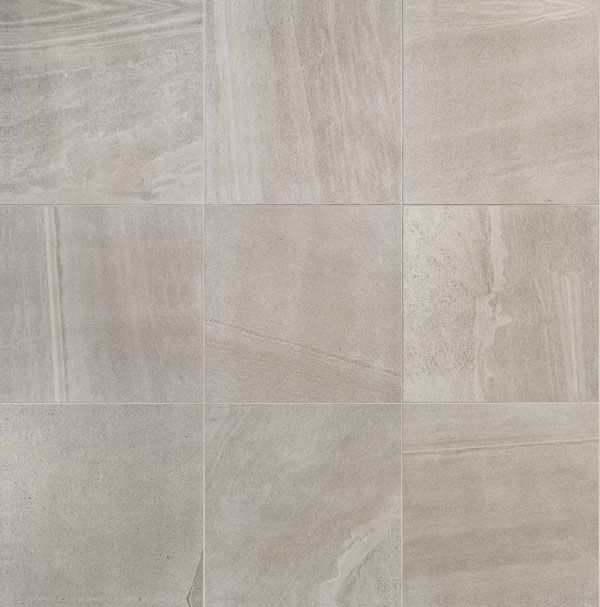These are the floor and vanity wall tiles: Sands Light Grey Lappato 600x600mm. Just gorgeous.    The Sands series comes to us from Italy and exudes luxury and class. A soft stone-look tile with a lot of variation to create a very realistic feel stone aesthetic. Available in a range of varied colours in matte or lappato.