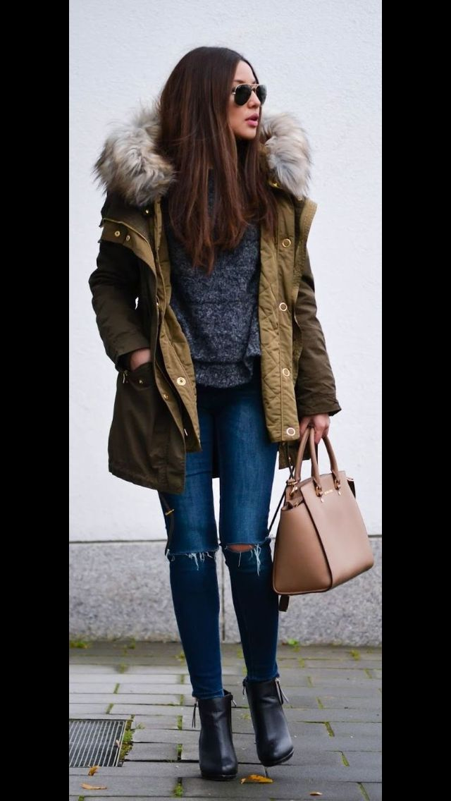 Best Parka for 2016/2017 Winter thanks to Stitch fix. Army green jacket with faux fur hood,