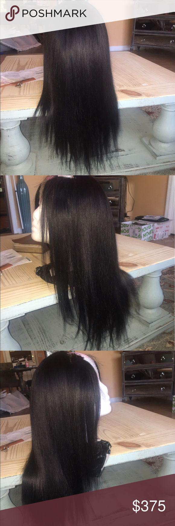 Virgin Malaysian U part wig 20 inches LOVE this wig but need the money. Cap size is medium. Originally purchased for just over 500. Hair color is 1b Accessories