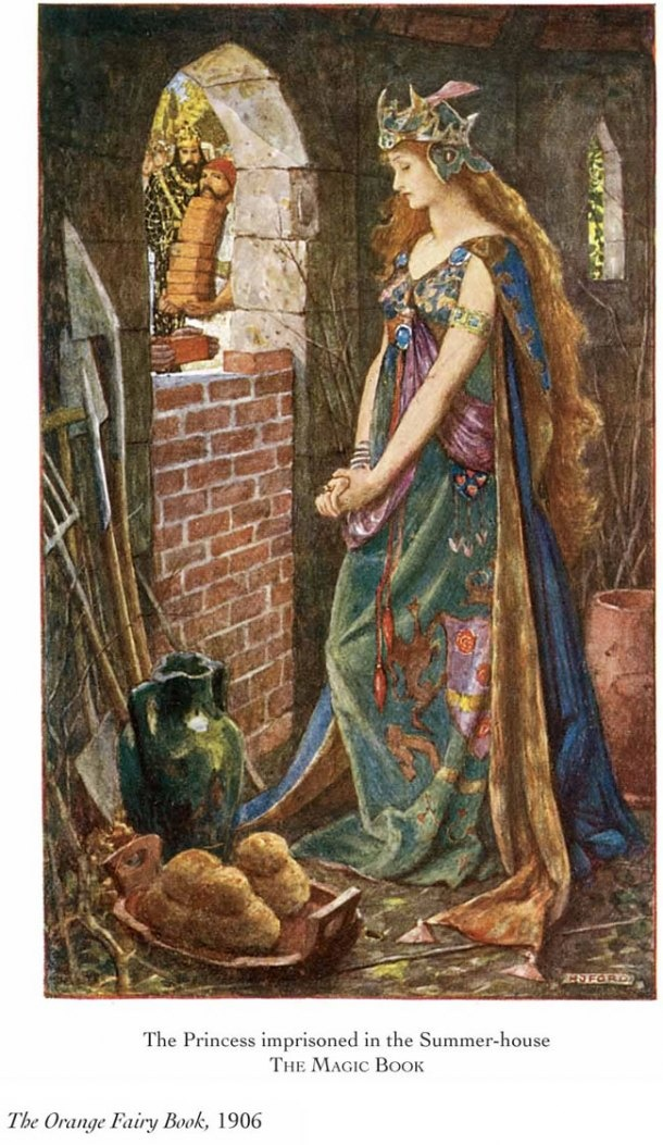 Fairy tale illustration by Henry Justice Ford, 1906.
