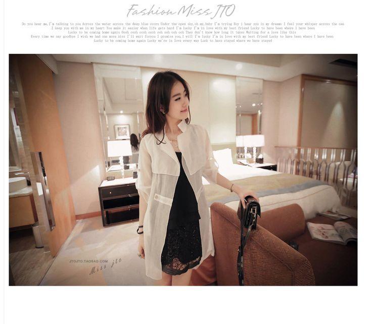 2015 yazında yeni büyük boy kadın giyim Kızlar uzun paragraf gevşek güneş kremi UV güneş koruyucu hırka yazlık giysiler - Taobao