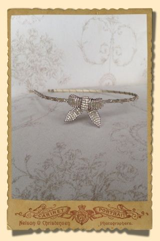 Stacey Hannan Designs - Small Gold Beaded Bow Hairband, €75.00 (http://www.staceyhannandesigns.com/small-gold-beaded-bow-hairband/)