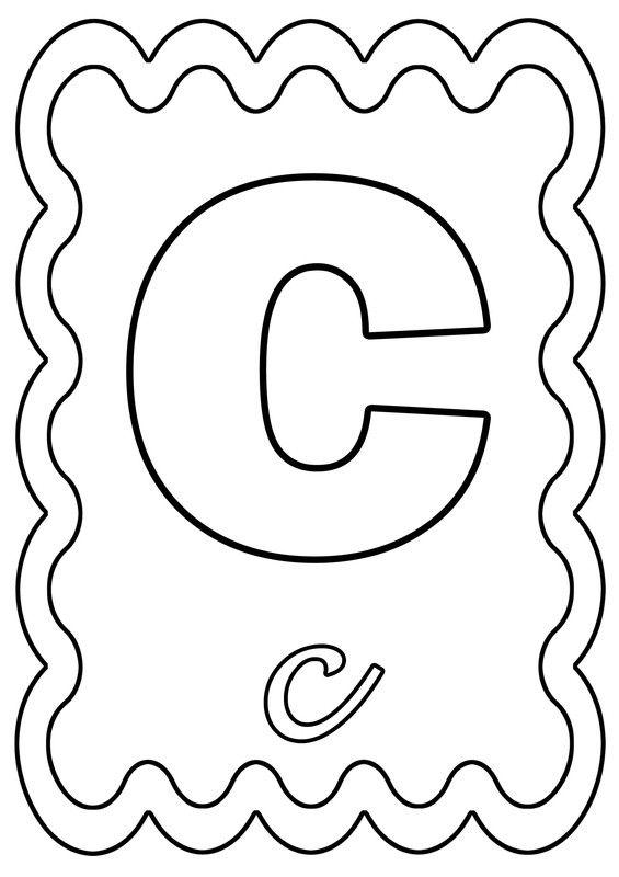 Coloriage Lettre C A Colorier Ou A Gommettes Coloriage Alphabet Coloriage Alphabet A Colorier