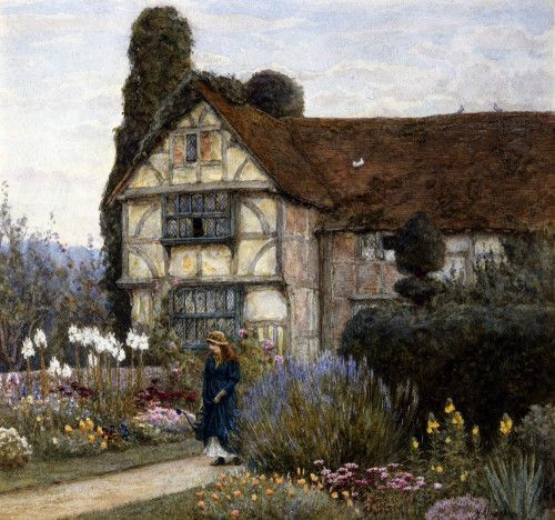 Old Manor House By Helen Allingham Cottages UkCountry CottagesEnglish