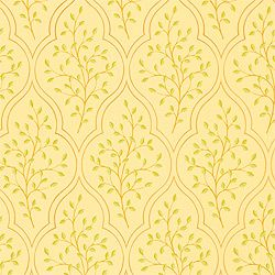 Sassafras #wallpaper in #light #gold from the Chelsea collection. #Thibaut
