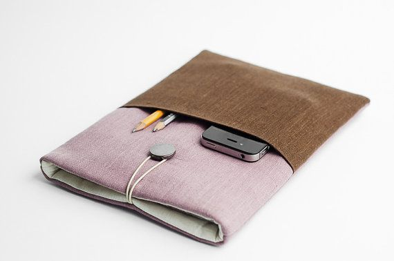 Macbook Retina sleeve, Macbook 13 inch case, Macbook Air sleeve, minimal sleeve, with a pocket on Etsy, $37.93