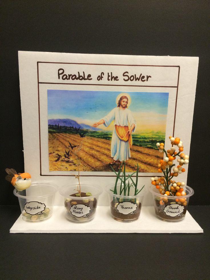 Manualidad para pequeñitos de la parabola del sembrador