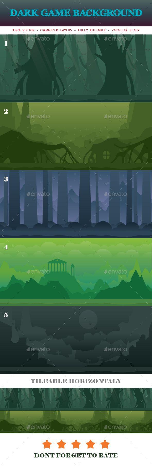 Dark Game Background Template