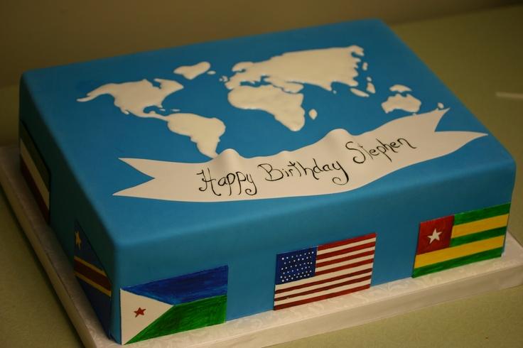 World Map Cake For Stephens 33rd Birthday Cakes