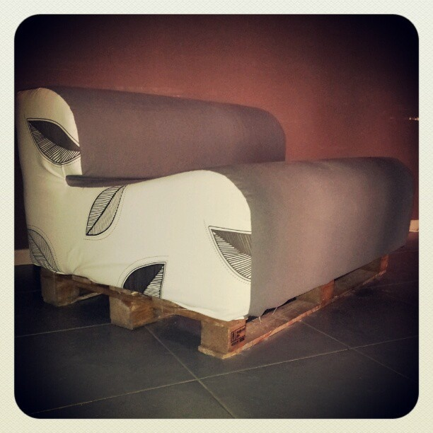up-cycled 60's foam sofa on a pallet: Nine9, Foam Sofas, Pallets, Products