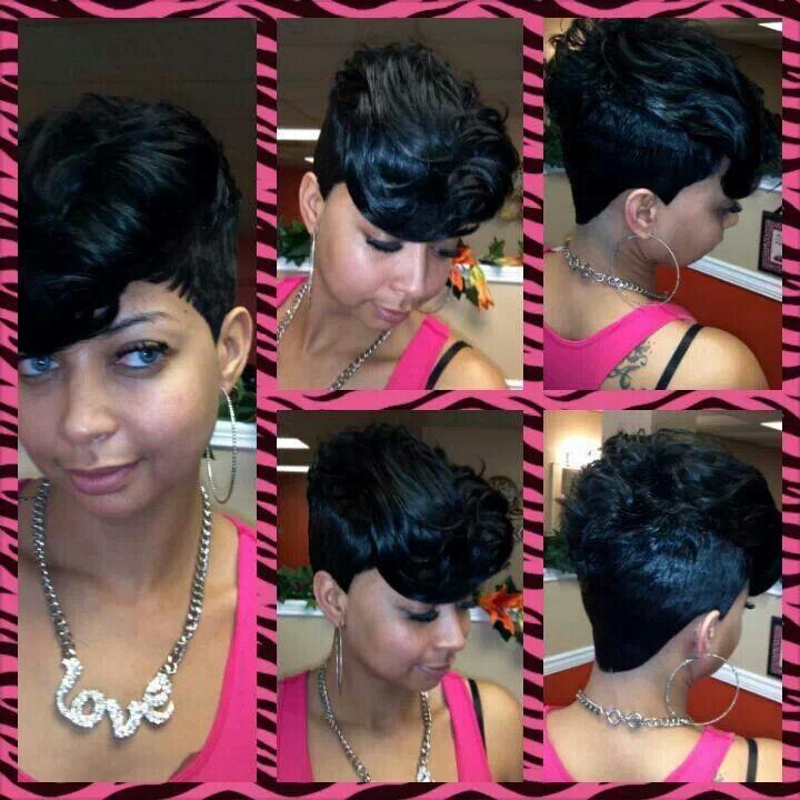 Stupendous 1000 Images About 27 Piece Quick Weave On Pinterest Short Pixie Short Hairstyles Gunalazisus