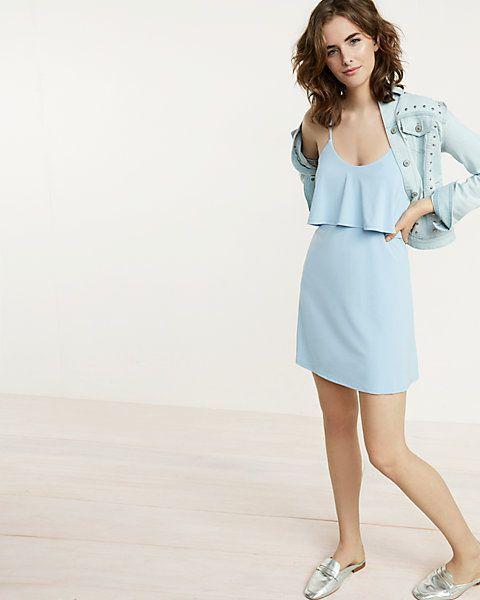 ruffle overlay cami dress