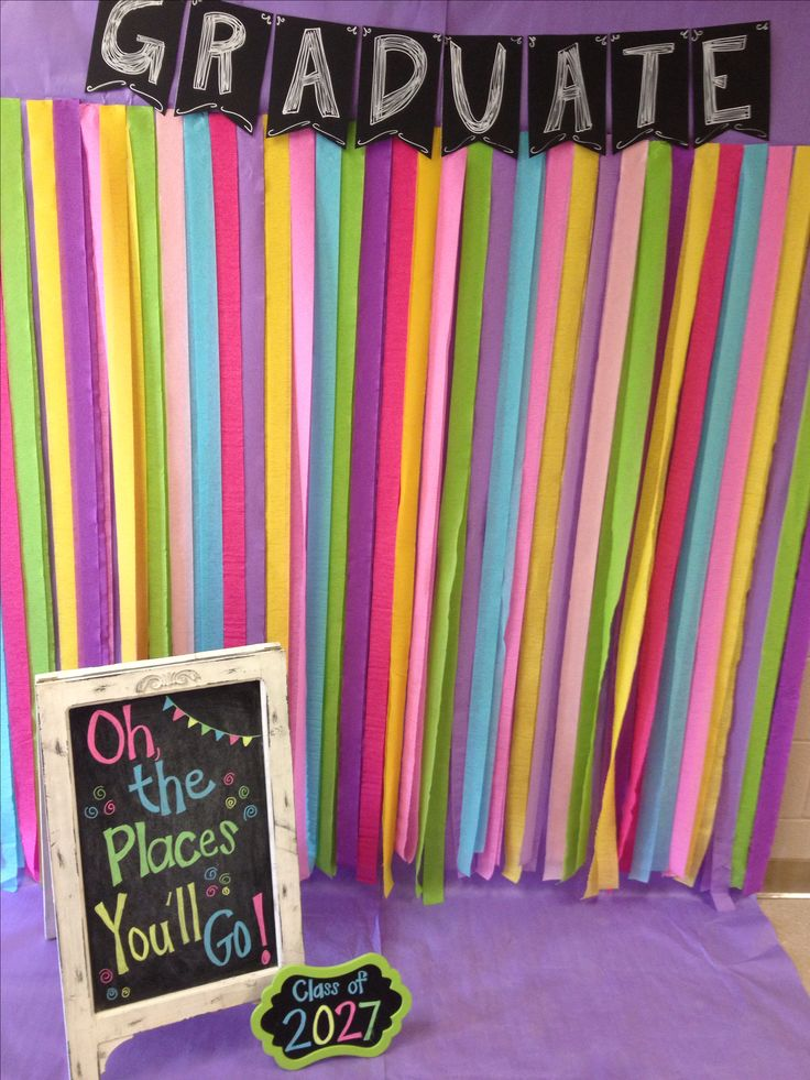 Our kindergarten Graduation photo booth!
