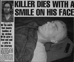 smiling Ted Bundy execution