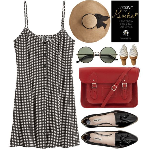 A fashion look from May 2014 featuring H&M dresses, Miu Miu flats and The Cambridge Satchel Company handbags. Browse and shop related looks.