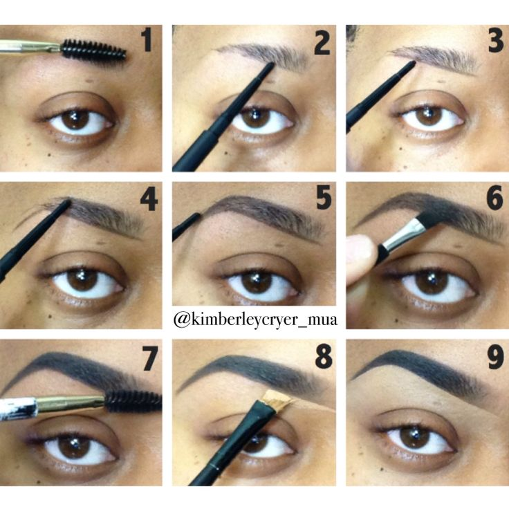 Really thin or sparse eyebrows! Check out this simple brow pictorial that I created to help you achieve full, sculpted brows! Steps are listed below...hope it helps ♥ #eyebrow #eyebrows #brow #brows #pictorial #tutorial #eyebrowtutorial #browtutorial #eyebrowpictorial #browpictorial #instagrampic #kimberleycryermua