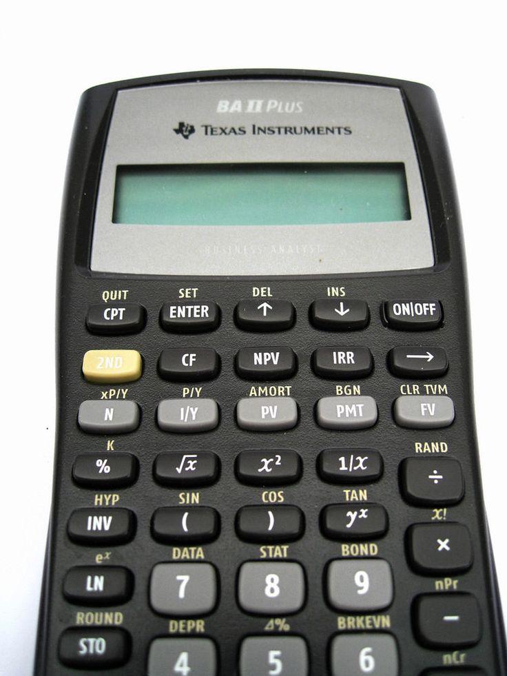 Texas Instruments TI BAII Plus Adv. Financial Calculator