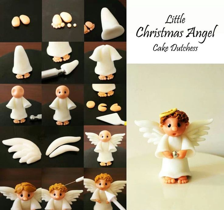 DIY Fondant Christmas Angel Tutorial