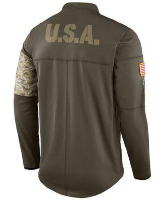 Nike Men's Tampa Bay Buccaneers Salute To Service Hybrid Half-Zip Jacket - Green XXL