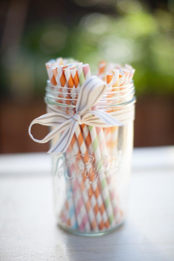 Straws, stripes and ribbons- Le Parfait party presentation www.leparfait.com