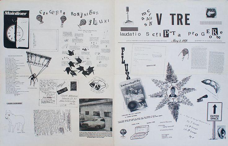 フルクサス・ニュースペーパー FLUXUS maciuNAs V TRE FLUXUS laudatio scriPTa pro GEoRge No. 10/Geoffrey Hendricks Robert Watts/Sara Seagull編