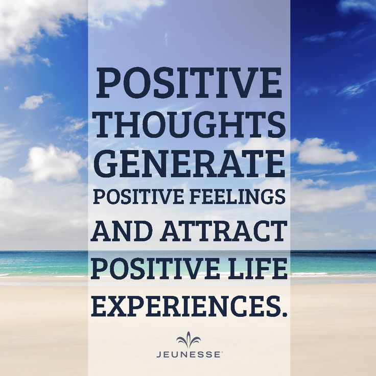 Positive thoughts generate positive feelings and attract positive life experiences.  - http://zi6.365.pm/
