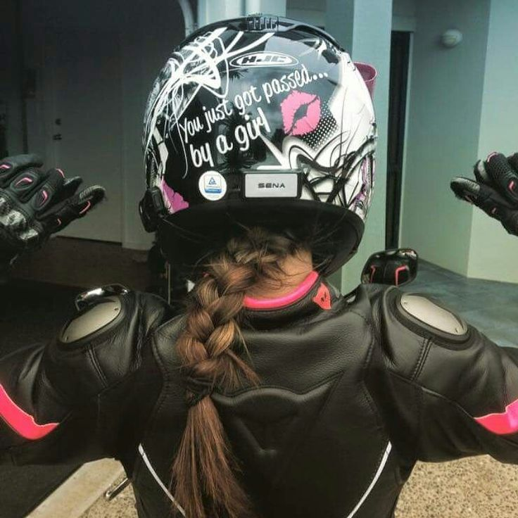 Love it! Helmet decal, passed by a girl. www.etsy.com/shop/MotoChicBoutique #girlsride #bikerchick #passedby #MotoChicBoutique