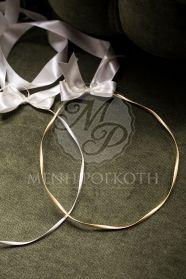 Μένη Ρογκότη - Στέφανα γάμου στριφτές βέργες σε ασήμι και χρυσό