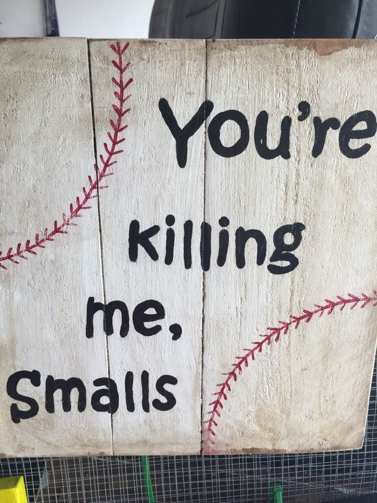 A personal favorite from my Etsy shop https://www.etsy.com/listing/233631893/handpainted-wooden-baseball-sign