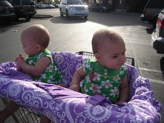 Twin Shopping Cart Cover Boutique Reversible by PaisleyPineapple