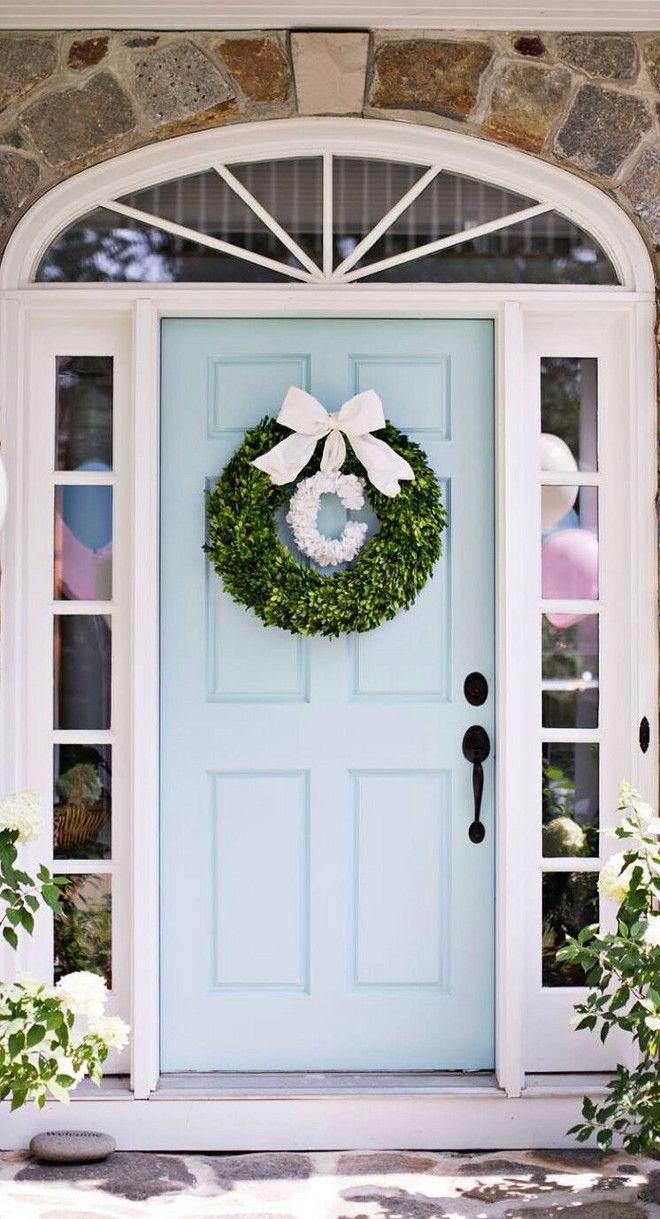 Green front door paint colors - Color Benjamin Moore Spring Rain Beautiful Homes Of Instagram Home Bunch Front Door Paint