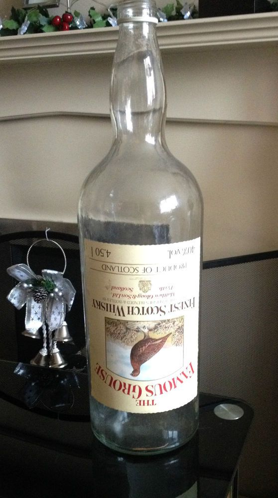 SOLD - The Famous Grouse Whisky Bottle 4.5L Collectors Large Glass Pub Original Whiskey