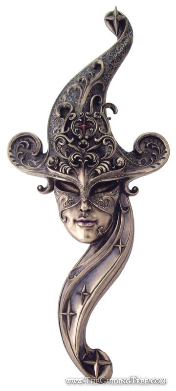 Venetian Mask Wall Plaque - Star Mistress [TL184900450] - $98.00 : Unique Gifts for Body Mind and Spirit | Metaphysical, Conscious Living, Personal Growth and Development | Statuary, Tarot, New Age Music, Books, Home and Altar Decor, The Guiding Tree