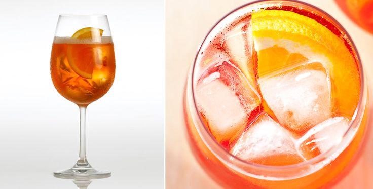 Le Spritz : du Prosecco avec du Campari ou de l'Apérol et de l'eau pétillante