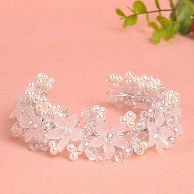 New Style Handmade Bride Headwear Head Decoration Crystal Flower With Pearl Wreath 5010601 2016 – $11.99
