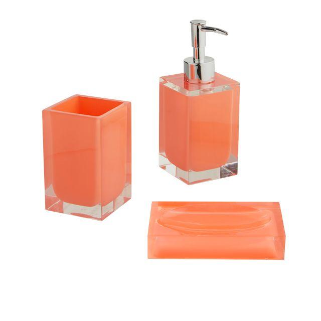 Exceptionnel Accessoires Salle De Bain Couleur Orange #5: Accessoire De Salle De Bains ICE Corail - CASTORAMA