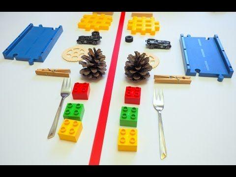 (53) Zabawy dla dzieci/ zabawy wspomagające rozwój dziecka / nauka symetrii - YouTube