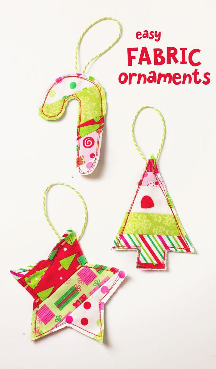 Free Christmas Ornament Patterns Plus 37 More Cute Things To Sew For Christmas Christmas Sewing Projects Fabric Christmas Ornaments Fabric Ornaments