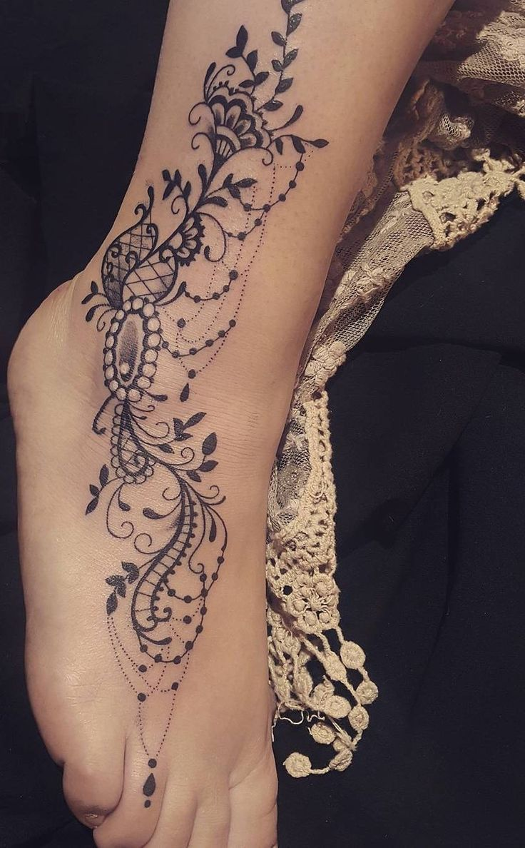 Celebrate Femininity With 50 Of The Most Beautiful Lace Tattoos You've Ever Seen – Charlotte