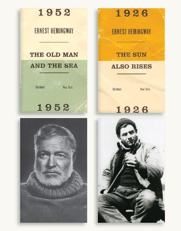 Hemingway Book Cover Series by Ben Grandgenett, via Behance