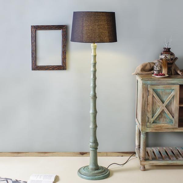 Hester Sky Floor Lamp Wooden Floor Lamps Handcrafted Lamp Side