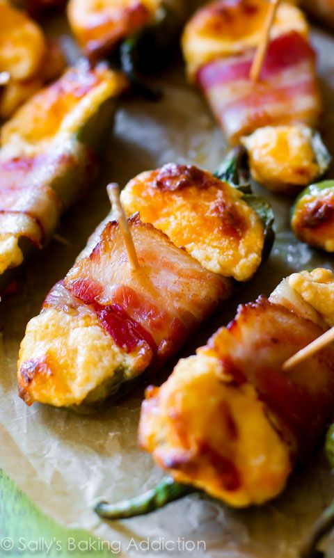 The heat is on with these Bacon-Wrapped Cheesy Stuffed Jalapeños! Family and friends won't be able to get enough.