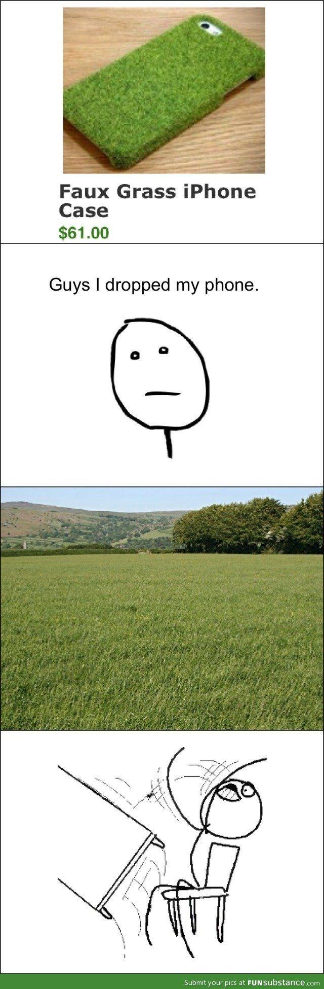 Faux grass case