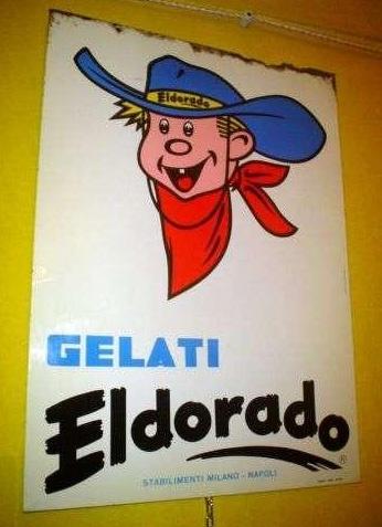 60's Italian icecream tin AD