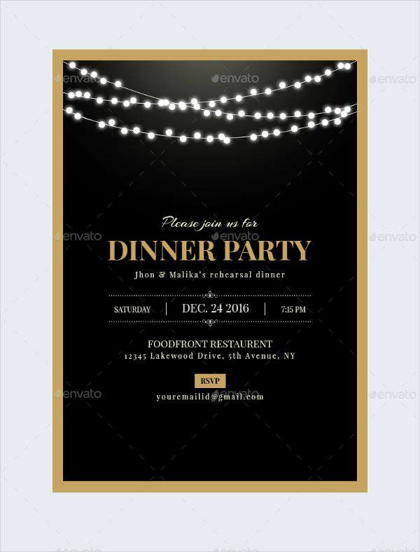 New Free Dinner Party Invitation Template Party Invite Template