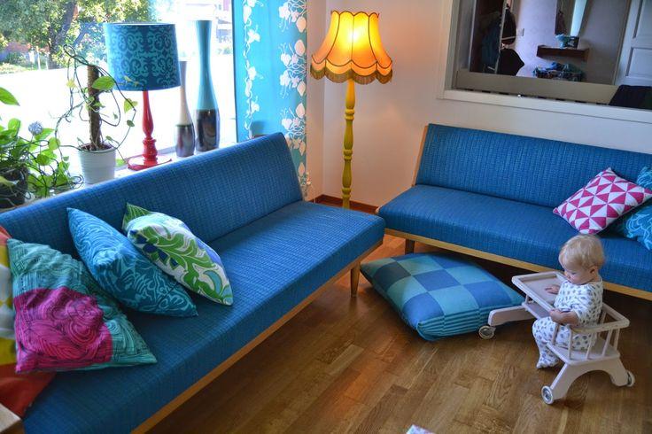 vintage retro living room