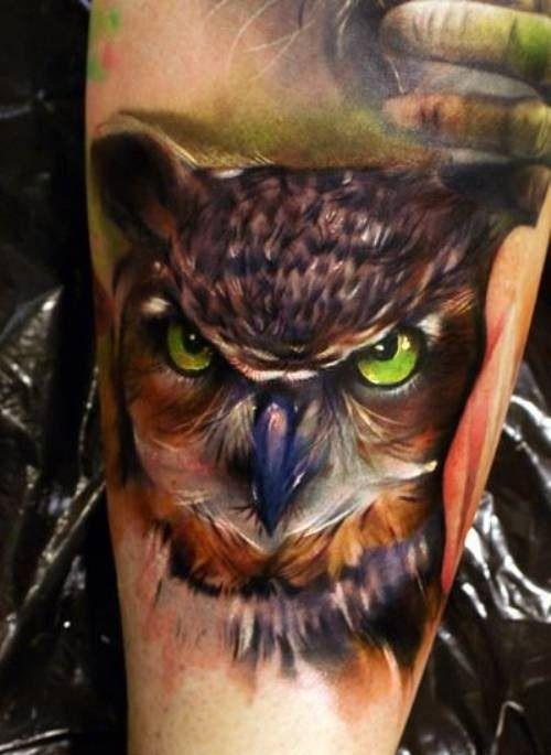 green-eyed-owl-tattoo.jpg (500×685)