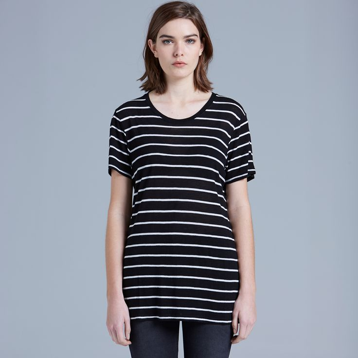 4025 Basic Stripe Tee