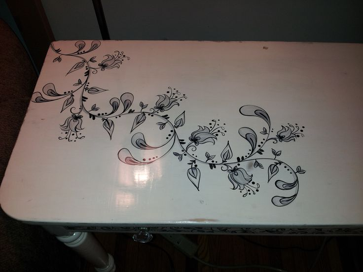 Foyer table after